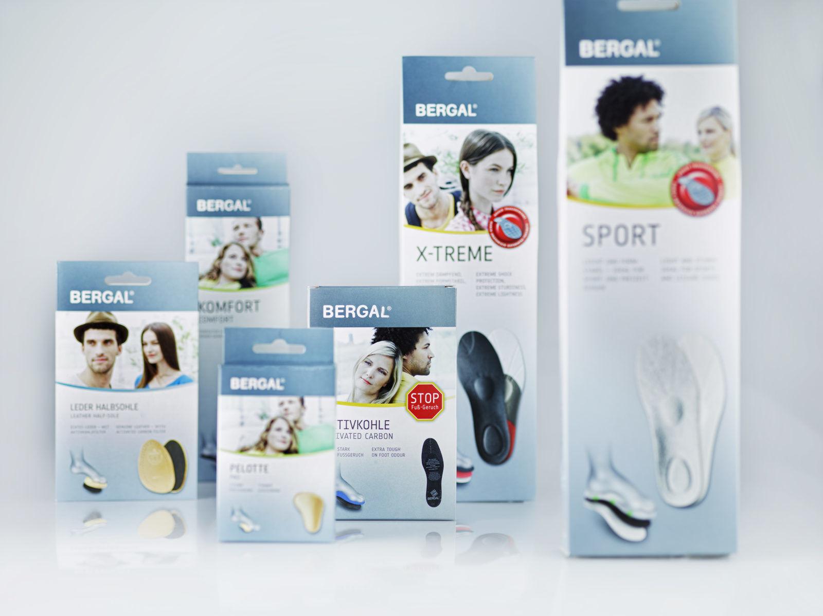 Design der Sohlen-Verpackungen von Bergal