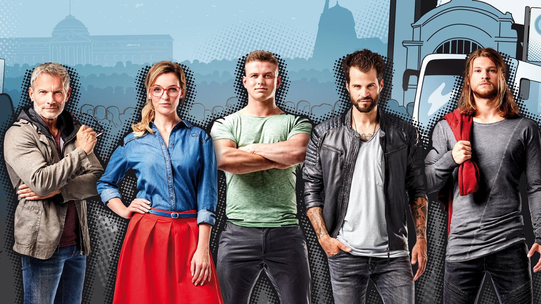 Comic Style Mixed Media Alltagshelden Kampagne ESWE Verkehr Wiesbaden Busfahrer Beruf Ausbildung Outlines
