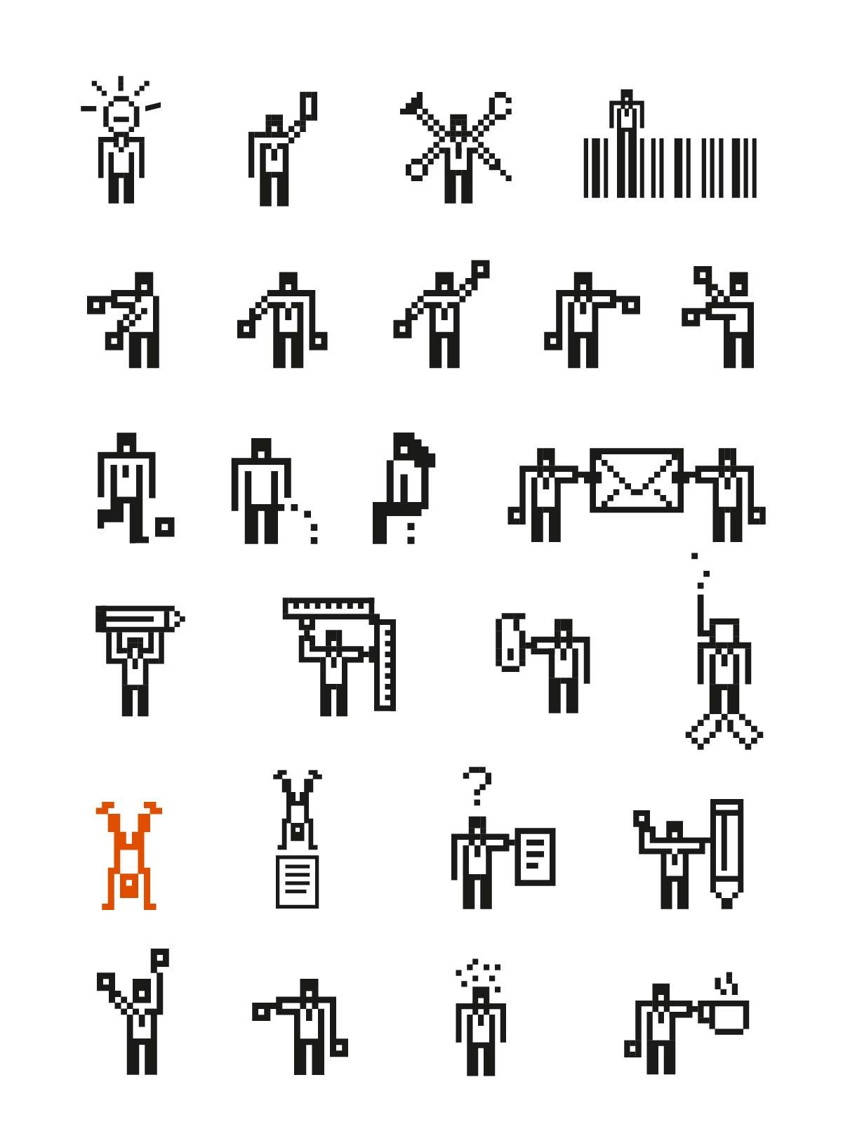 Pixel, Design, Flagge, Zeichensprache