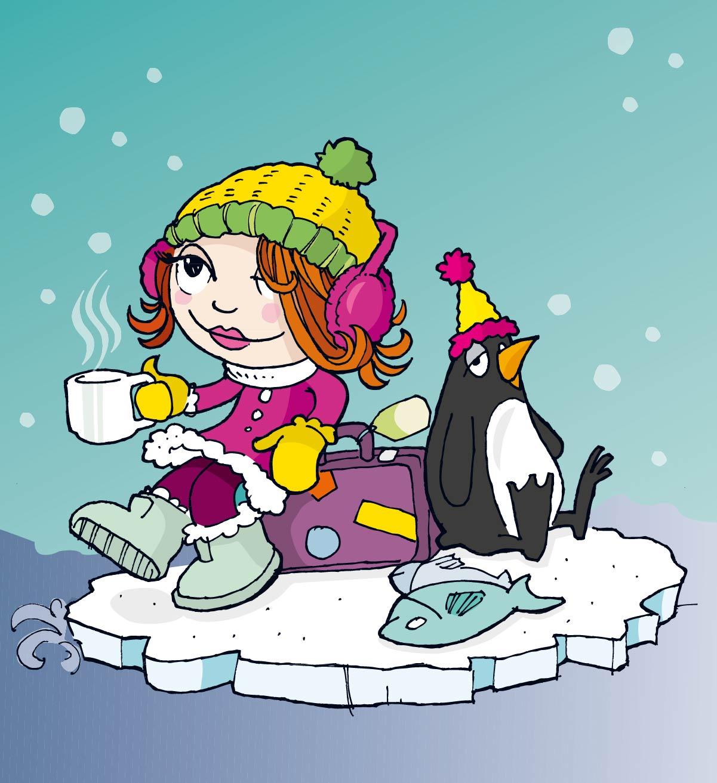 Mädchen Pinguin Eisscholle Ferienprogramm Winter WI & You Wiesbaden Serie