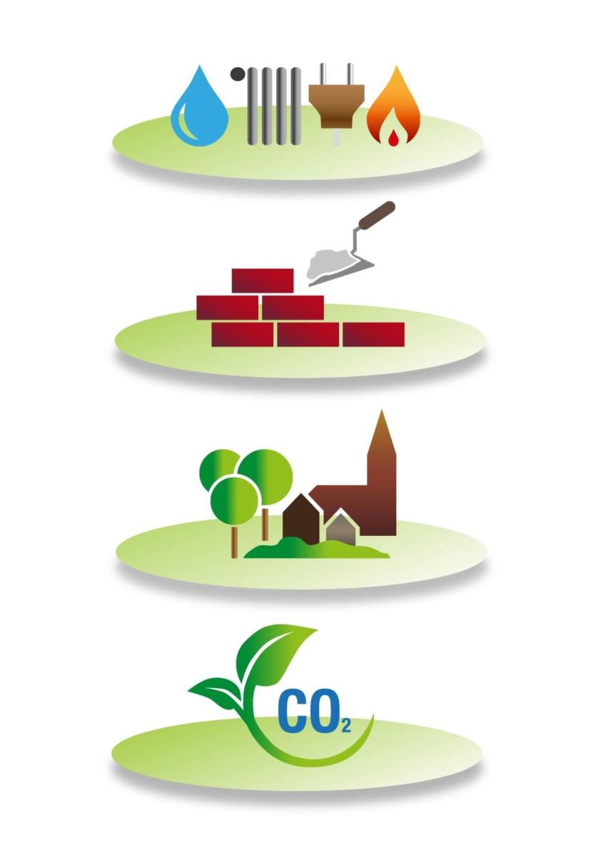 Adobe Illustrator Grafik Energiesparen Ökologie Schaubild
