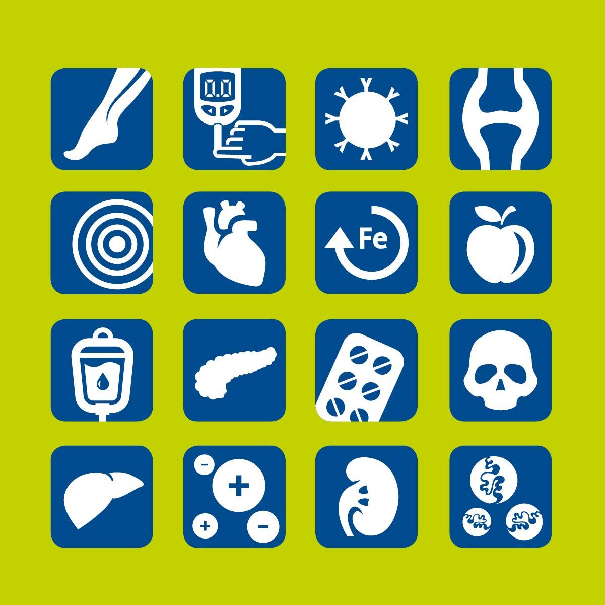 Icons Wiesbaden Medizin Leitsystem Vektorzeichnung Patienten Information