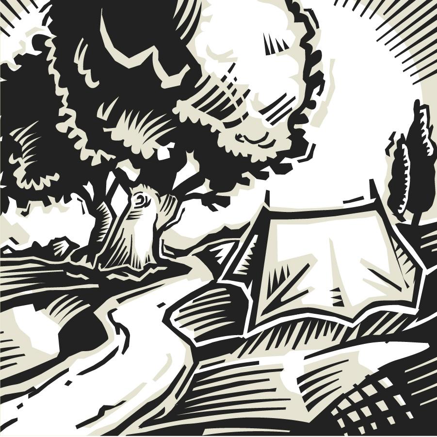 Illustration Wald Natur Camping Atmosphäre