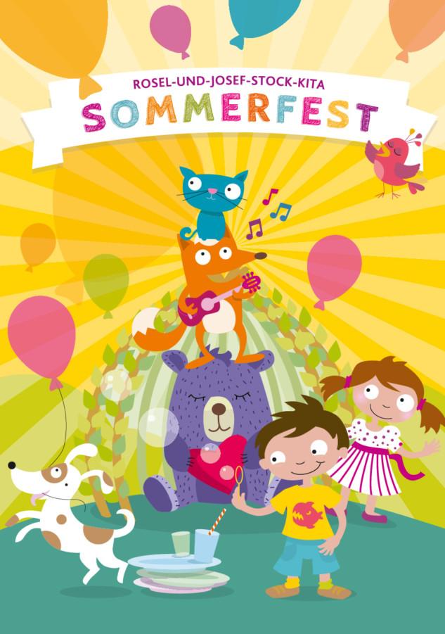 Kinder flächig Tiere KITA Sommerfest