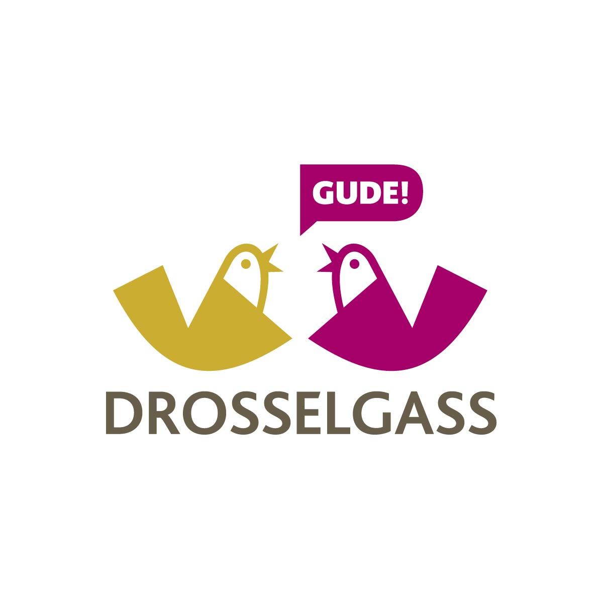 Icons Logo Wort-Bild-Marke Rüdesheim Drosselgasse