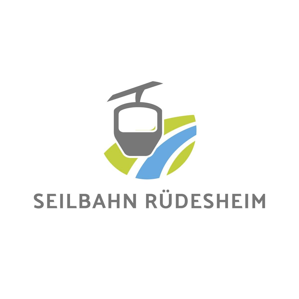 Icon Signet Ruedesheim Seilbahn Print Web